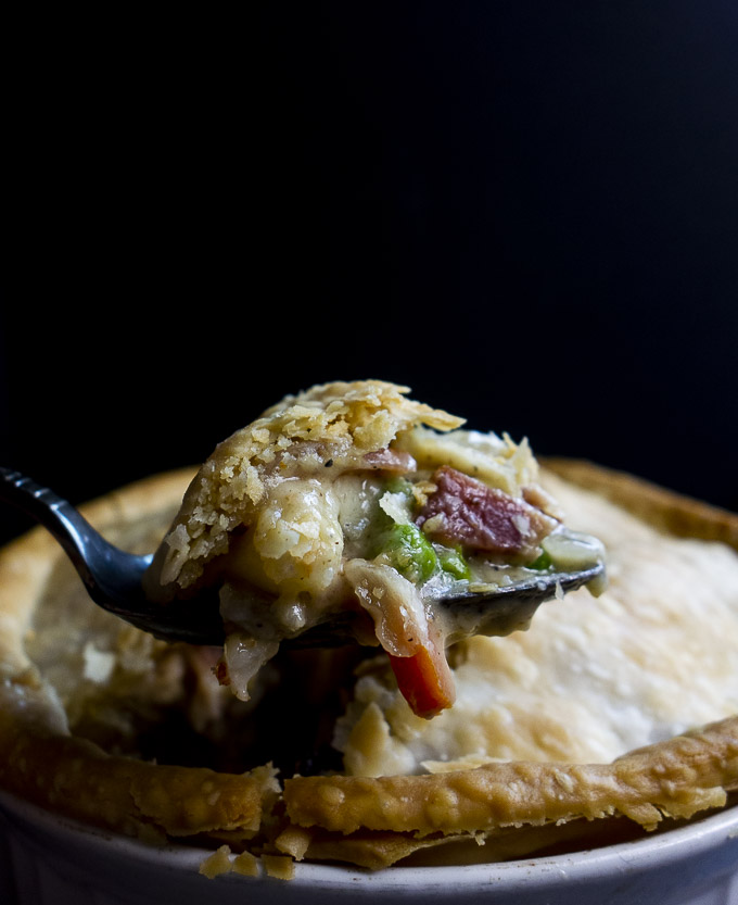 spoonful of turkey pot pie