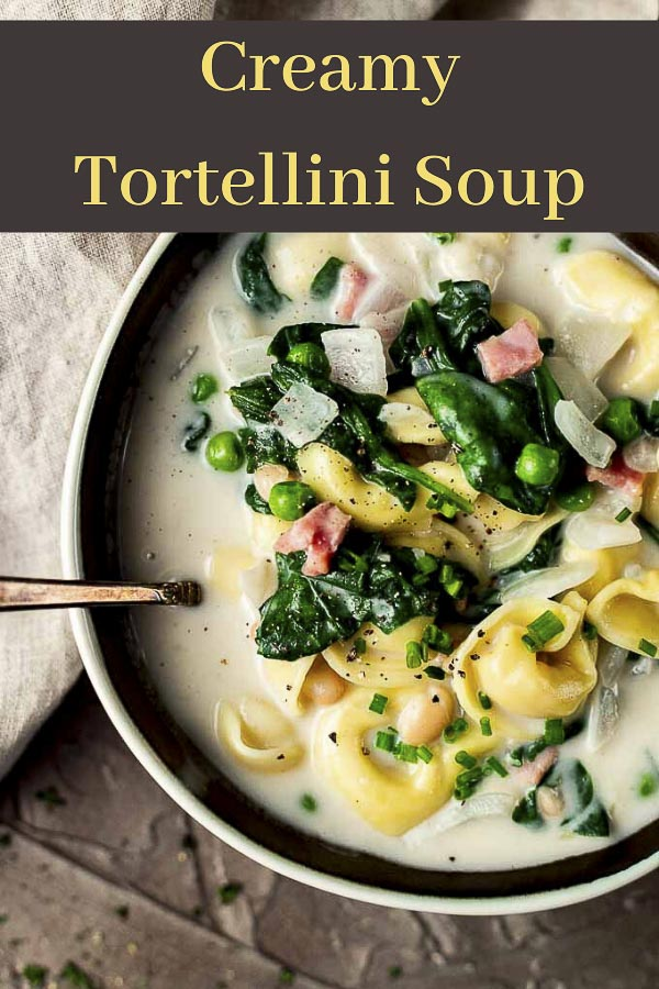 Creamy Tortellini Soup Recipe with Ham
