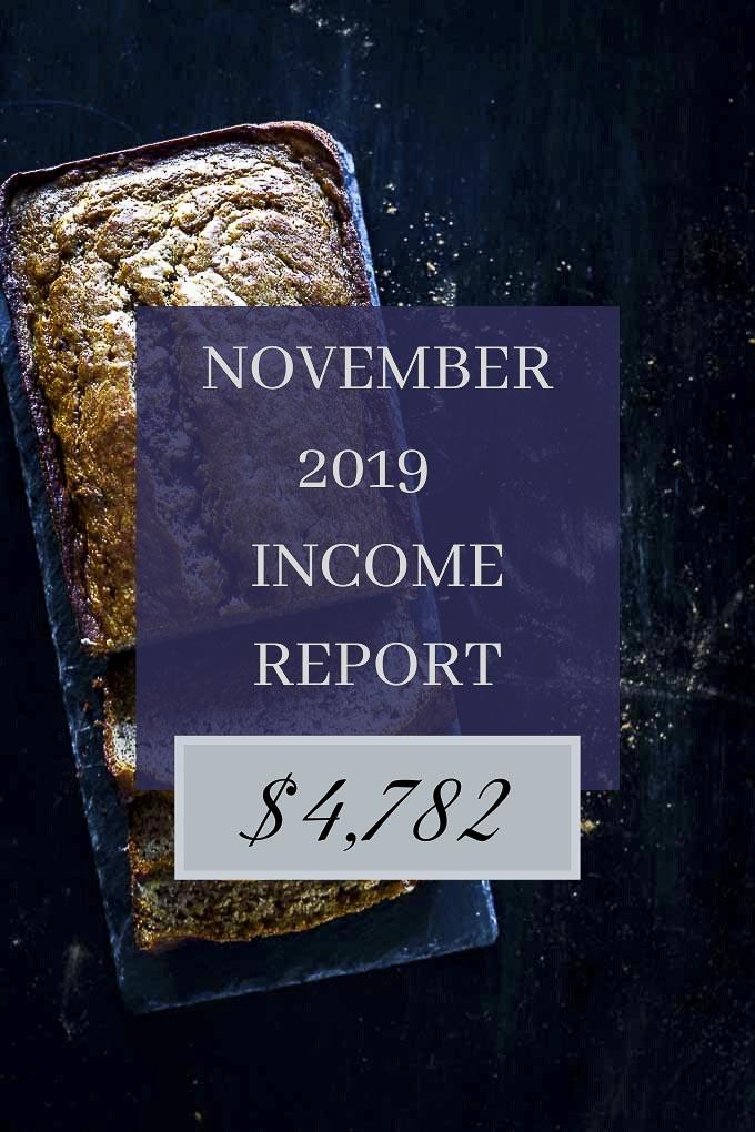 Food Blog Income Report - November 2019
