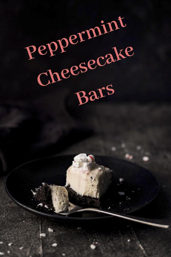 No Bake Peppermint Cheesecake Bars