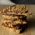 a stack of butter toffee pieces