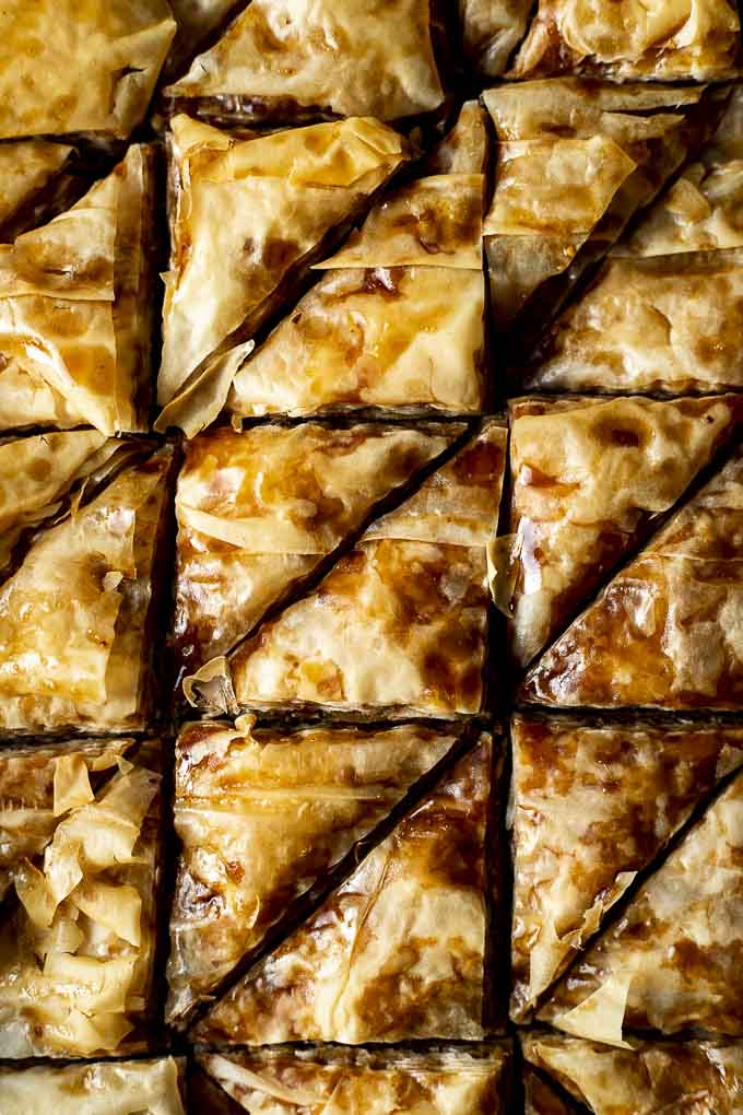 close up photo of sliced baklava