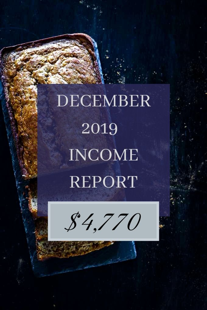 Food Blog Income Report - December 2019