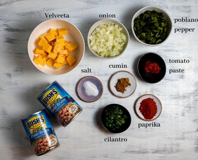 ingredients for vegetarian empanadas