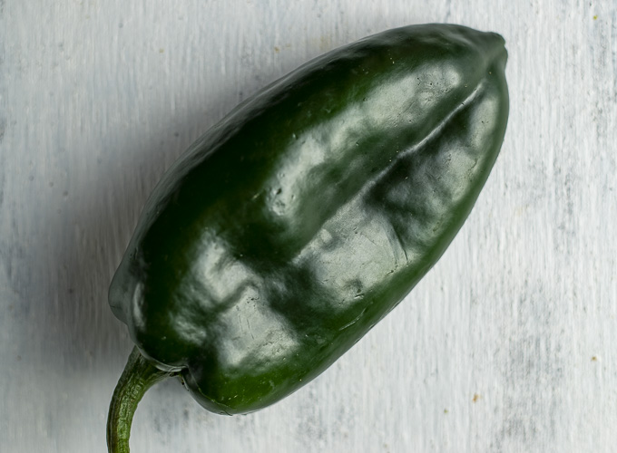 whole poblano pepper
