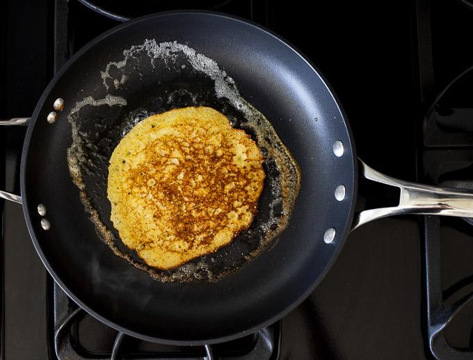 pancake in a skillet