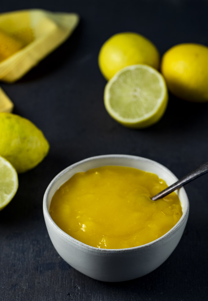 bowl of lime curd