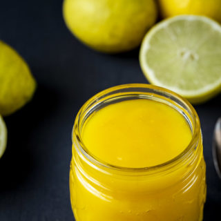 lime curd in a jar