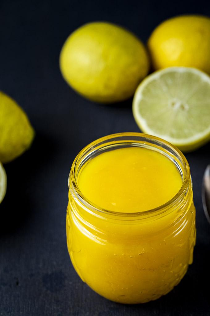 lime curd in a jar