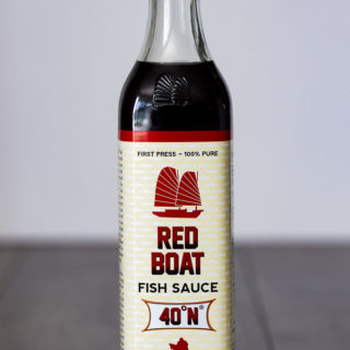 bottle of fish sauce