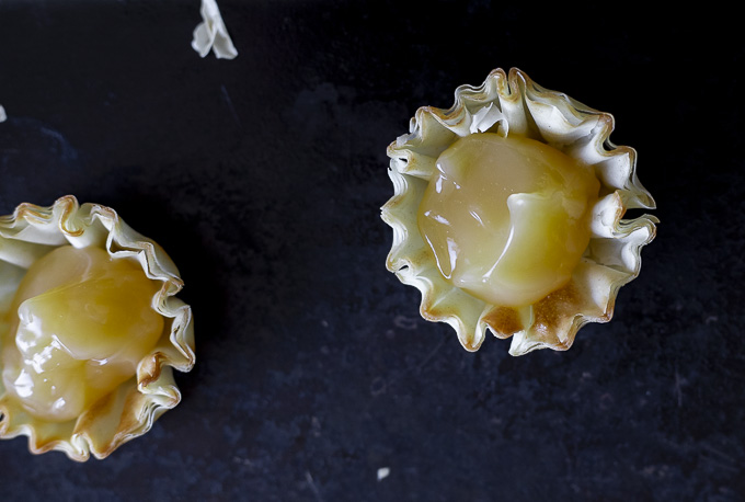 lemon curd in a tart shell