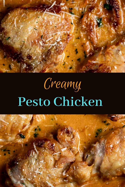 Creamy Pesto Chicken with Sun Dried Tomato Pesto