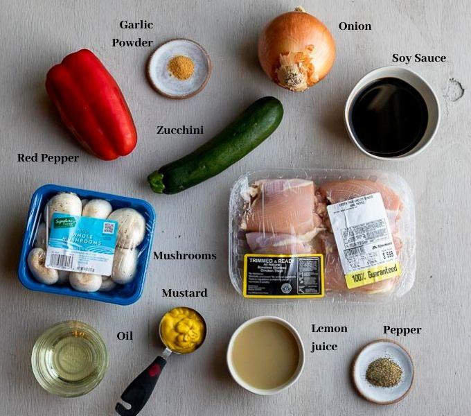 ingredients for mustard chicken marinade