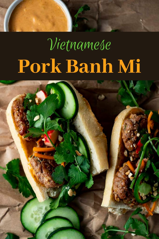 Vietnamese Banh Mi with Pork Meatballs