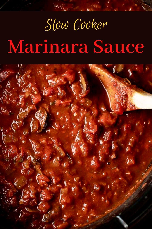 Chunky Homemade Marinara Sauce (Slow Cooker)