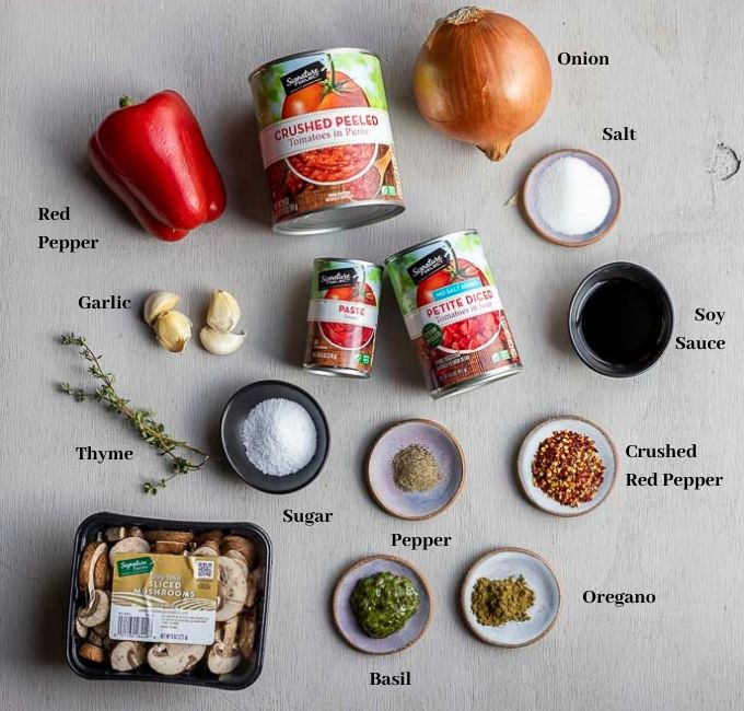 ingredients for slow cooker marinara sauce