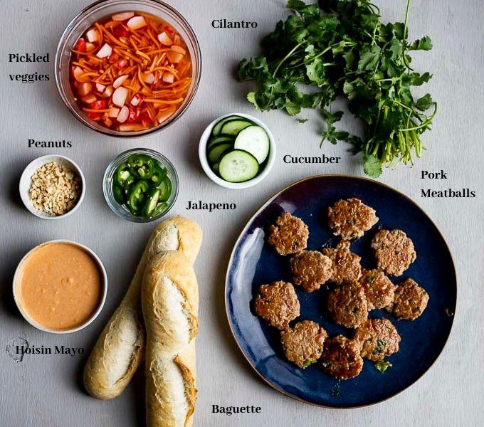 ingredients for vietnamese banh mi