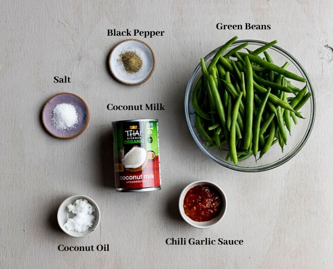 ingredients for braised green beans