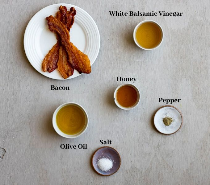 ingredients for bacon vinaigrette