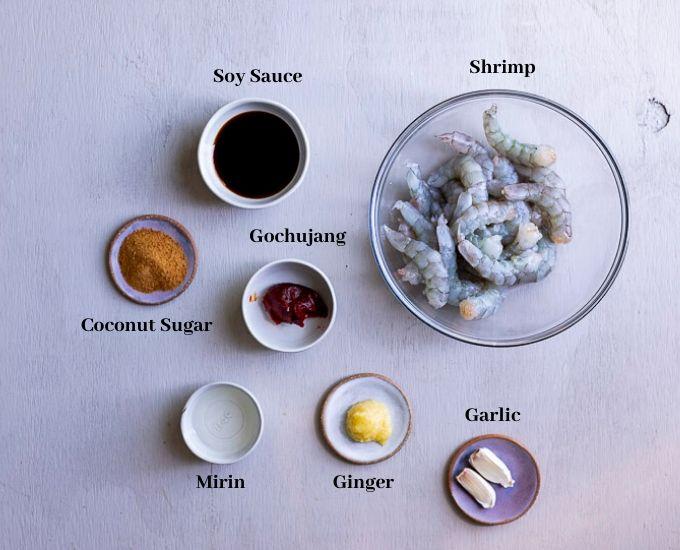 ingredients for shrimp marinade