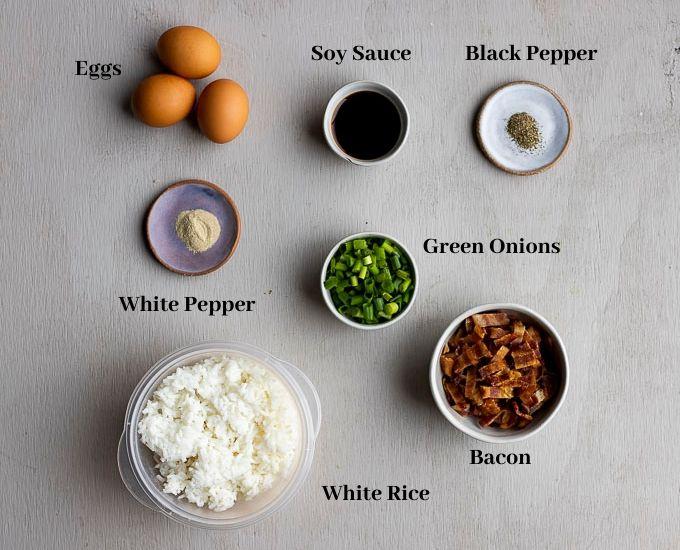 ingredients for breakfast fried rice