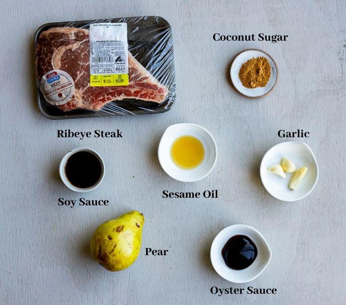 ingredients for bulgogi beef