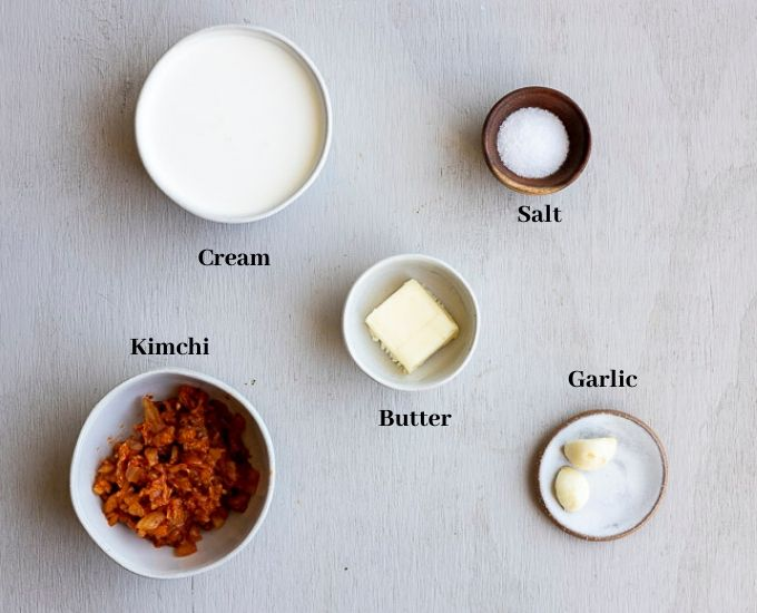 ingredients for kimchi sauce