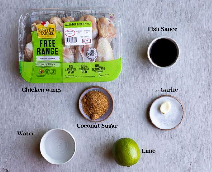 ingredients for pok pok wings