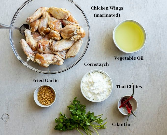 ingredients for fish sauce wings
