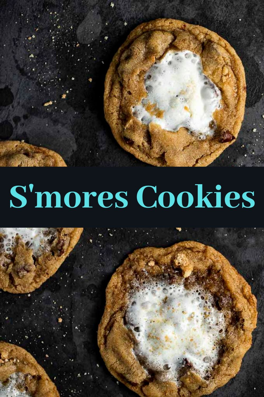 The Best Chewy S\'mores Cookies