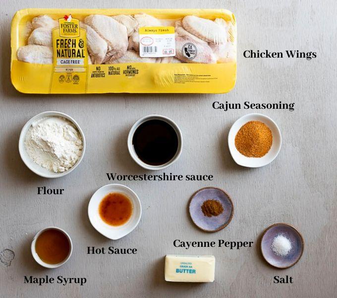 ingredients for cajun wings