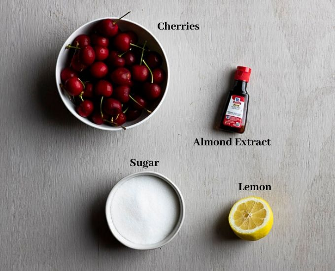 ingredients for candied cherries