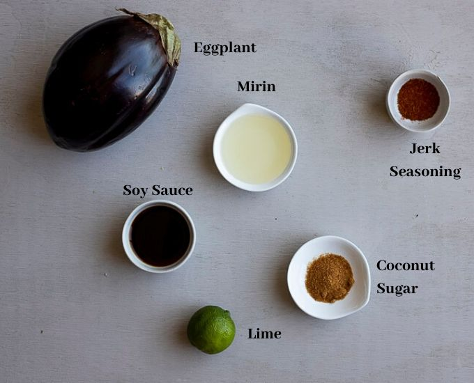 ingredients for grilled eggplant