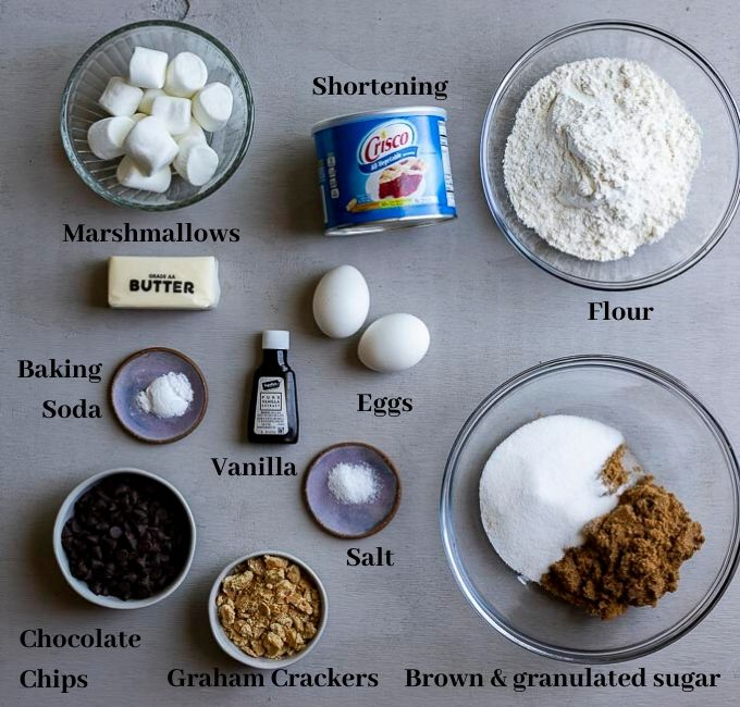 ingredients for smores cookies