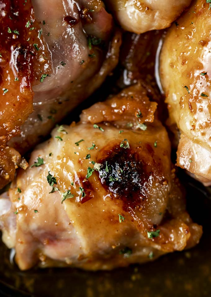 chicken thighs with a honey glaze