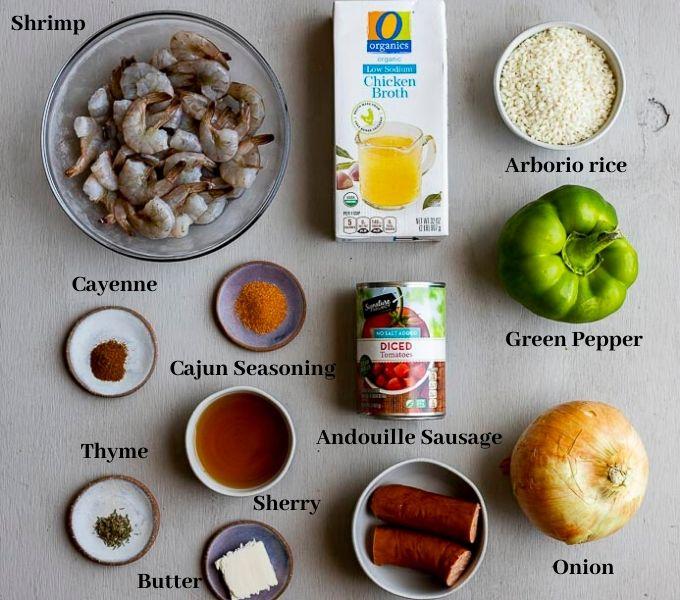 ingredients for jambalaya risotto