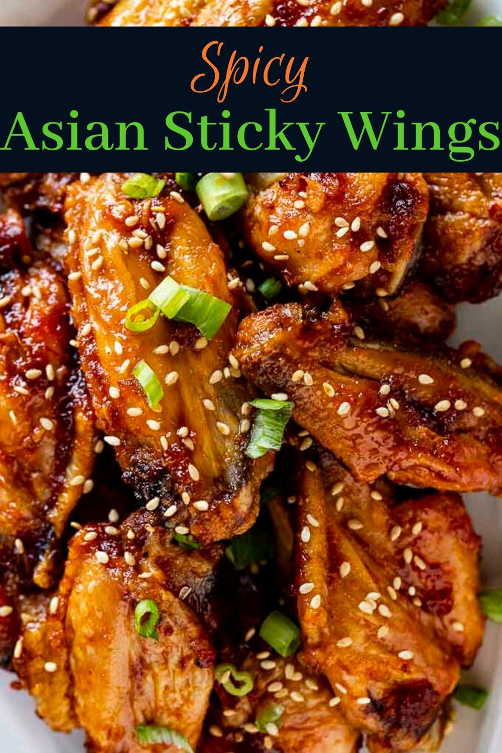 Spicy Glazed Asian Wings (Baked)