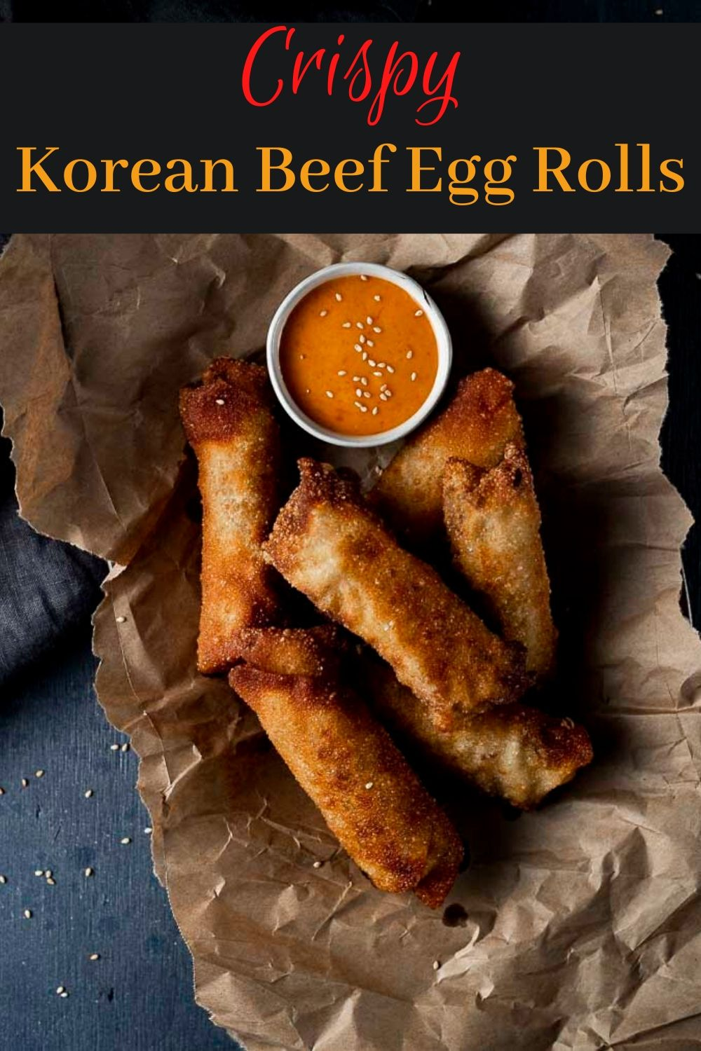 Fried Korean Egg Rolls with Ground Beef