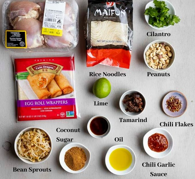 ingredients for thai egg rolls
