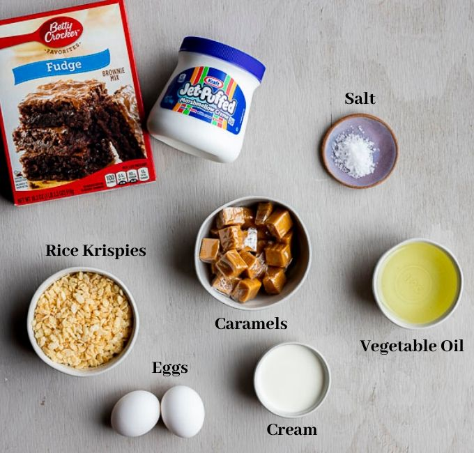 ingredients for marshmallow brownies
