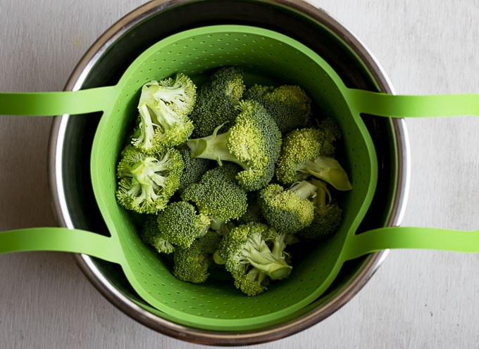raw broccoli in a