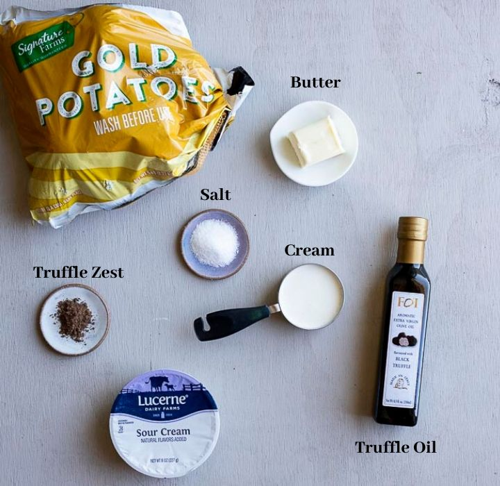 ingredients for truffle mashed potatoes