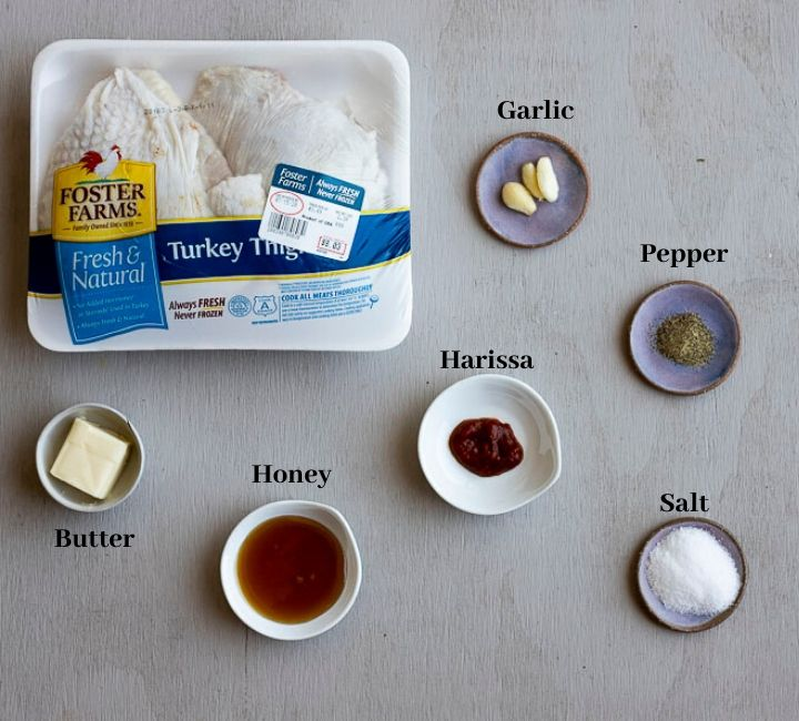 photo of ingredients for roasted turkey thighs