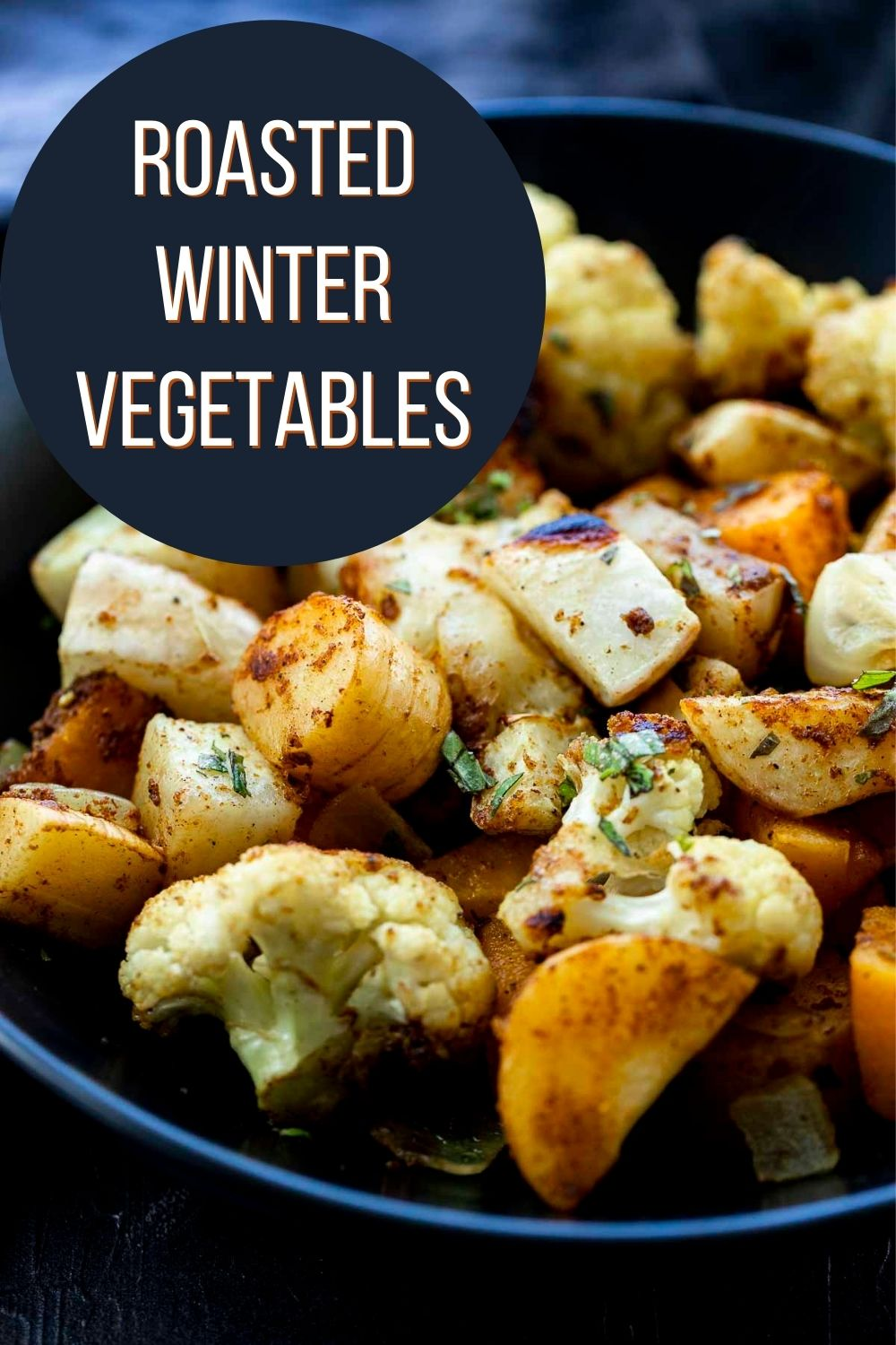 Easy Curry Roasted Winter Vegetables