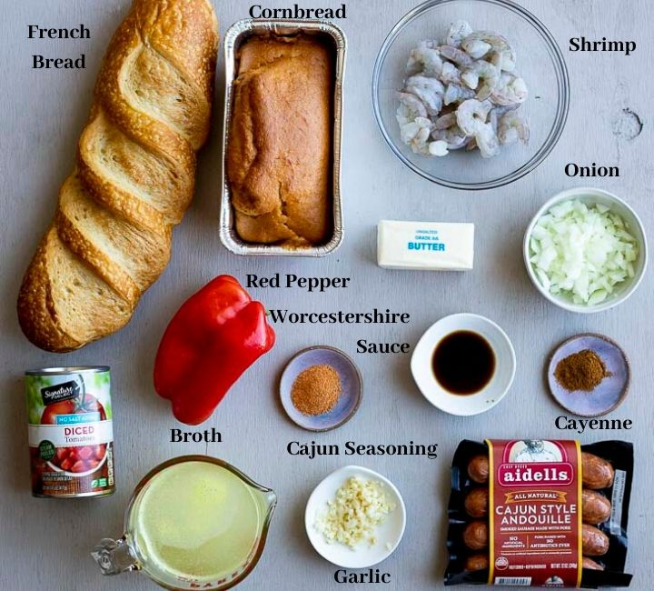 ingredients for cajun dressing recipes