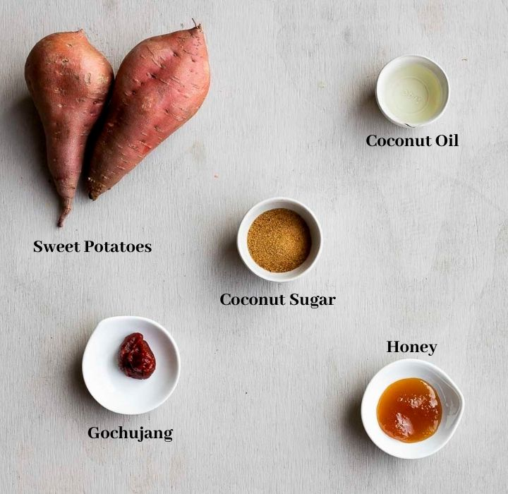 ingredients for korean sweet potatoes
