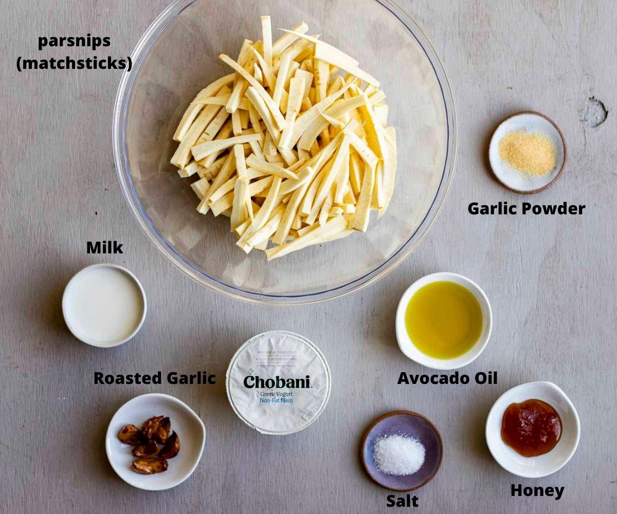 ingredients for parsnip fries