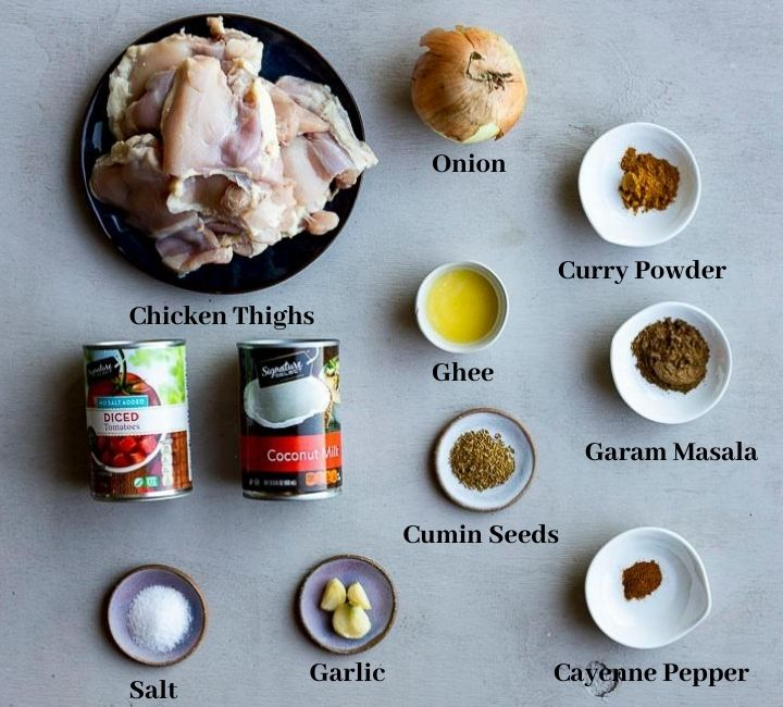 ingredients for instant pot chicken curry