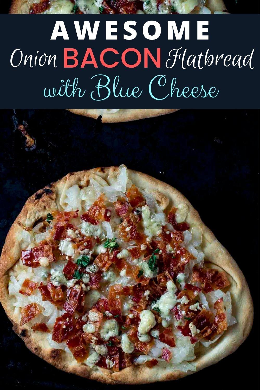 Easy Caramelized Onion Flatbread Pizza