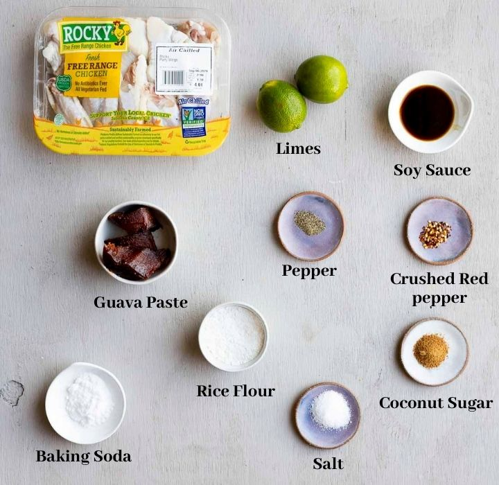 ingredients for baked bbq chicken wings